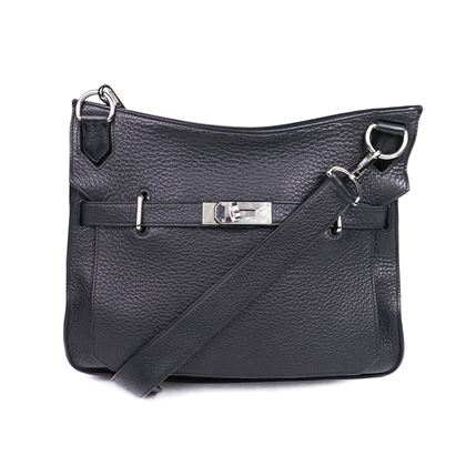 hermes-jypsiere-31-cm-shoulder-black-leather-31cm-crossbody-silver-handbag-pre-owned-used