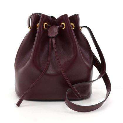 cartier-burgundy-cowhide-leather-small-bucket-bag