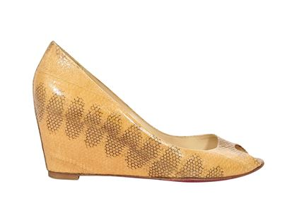 tan-christain-louboutin-snakeskin-wedges