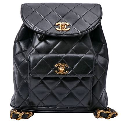 chanel-double-turn-lock-backpack-black