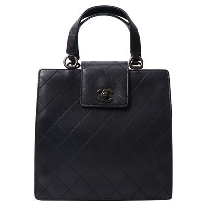 chanel-turn-lock-square-handbag-black
