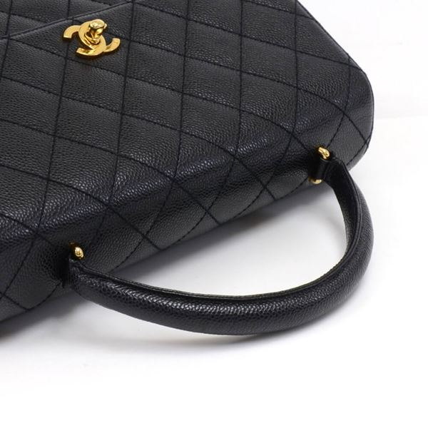 chanel-12-kelly-style-black-quilted-caviar-leather-handbag
