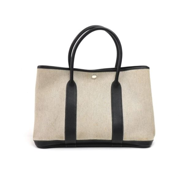 hermes-garden-party-mm-black-leather-gray-canvas-tote-bag-limited-edition-interior