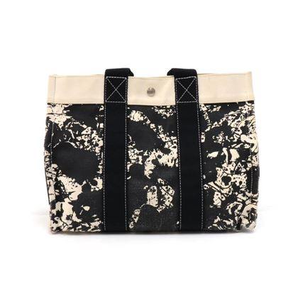 hermes-cheval-suprise-bora-bora-black-white-canvas-tote-bag