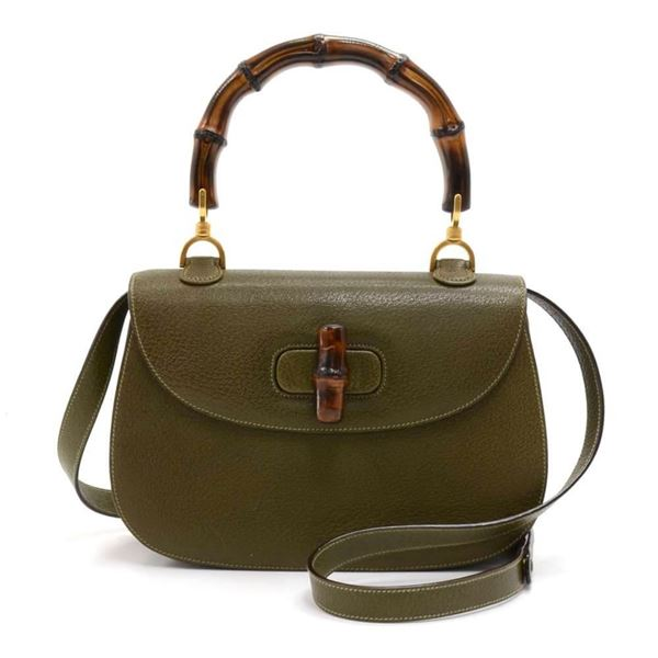 gucci-bamboo-top-handle-olive-green-pebbled-leather-2-way-bag