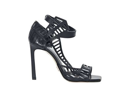 black-daniele-michetti-leather-cutout-sandals