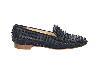 black-christian-louboutin-studded-loafers