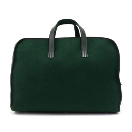 hermes-green-wool-x-leather-victoria-style-h-logo-boston-travel-bag