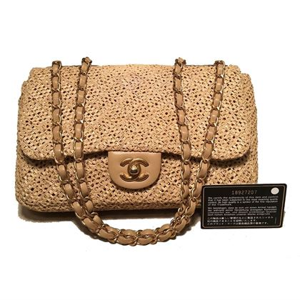 chanel-tan-raffia-classic-flap-shoulder-bag