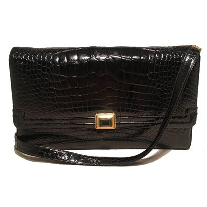 judith-leiber-vintage-black-alligator-shoulder-bag-clutch