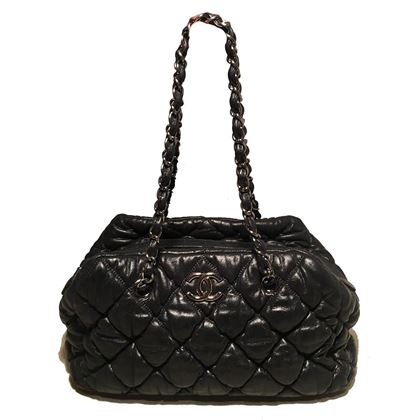 chanel-black-quilted-puffy-leather-shoulder-bag-tote