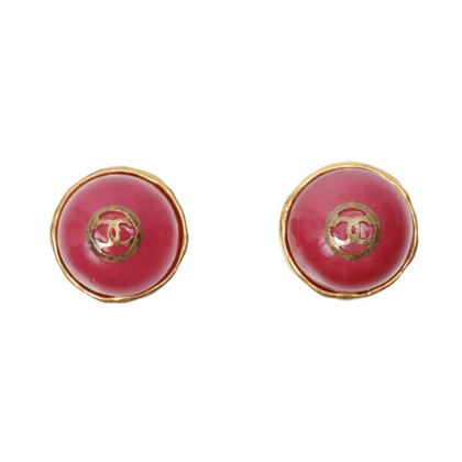 chanel-round-stone-cc-mark-earrings-raspberry-pink
