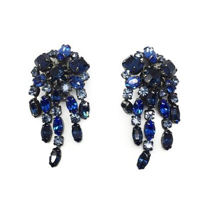 schreiner-vintage-cascading-blue-crystal-earrings-1950s