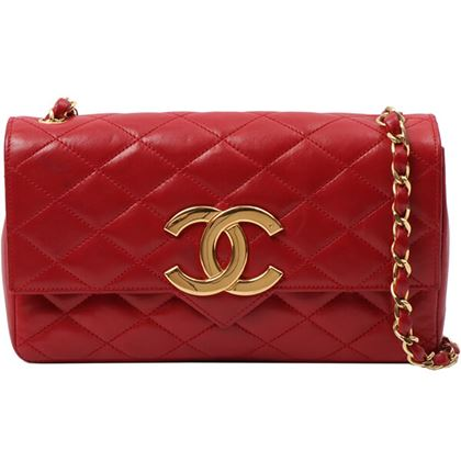 chanel-design-flap-big-cc-mark-plate-chain-bag-red-2