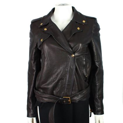 gucci-womens-leather-jacket-motorcycle-belted-moto-gold-it-38-us-2-pre-owned-used