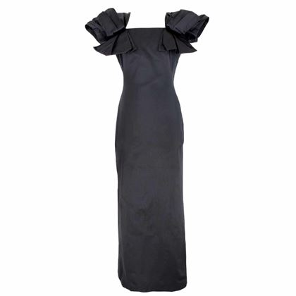 alexander-mcqueen-silk-long-evening-grows-dress-bow-sleeves