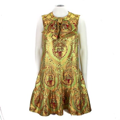 gucci-2017-bow-dress-metallic-gold-floral-it-42-us-6-pre-owned-used