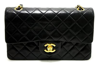 chanel-255-double-flap-9-chain-shoulder-bag-black-quilted-lamb-9