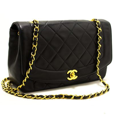 chanel-diana-chain-flap-shoulder-crossbody-bag-black-quilted-lamb-6