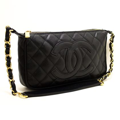 chanel-caviar-mini-small-chain-one-shoulder-bag-black-quilted-5