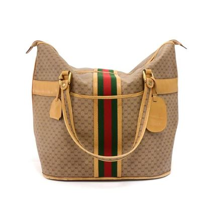 vintage-gucci-micro-gg-supreme-coated-canvas-x-leather-large-travel-tote-bag