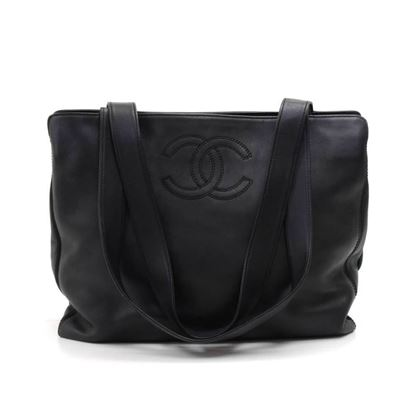 chanel-black-calfskin-leather-multi-compartment-pocket-tote-bag