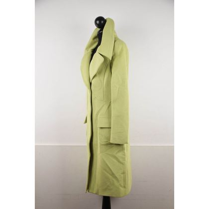versace-lime-green-wool-blend-coat-wide-lapels-2005-fall-collection-size-40