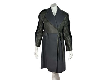 multicolor-balenciaga-leather-wool-trench-coat