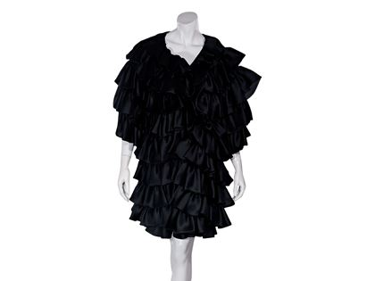 black-vintage-oscar-de-la-renta-ruffled-evening-coat