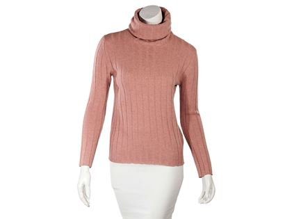pink-chanel-ribbed-knit-turtleneck-sweater