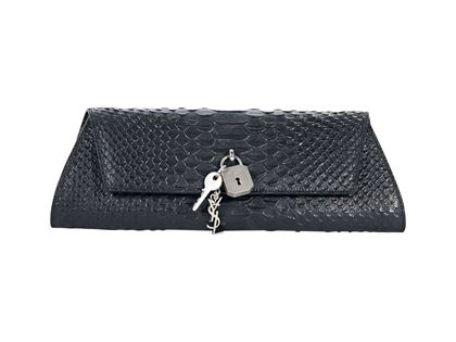 black-yves-saint-laurent-snakeskin-punk-clutch