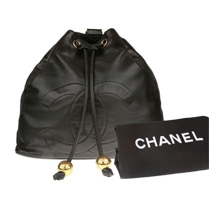 chanel-black-lambskin-cc-backpack