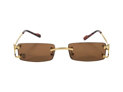 brown-cartier-tiny-rectangular-sunglasses