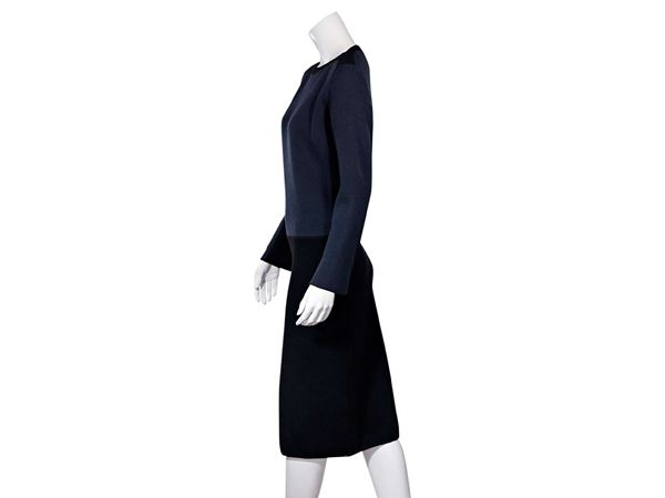 black-navy-blue-alaia-fleece-wool-dress