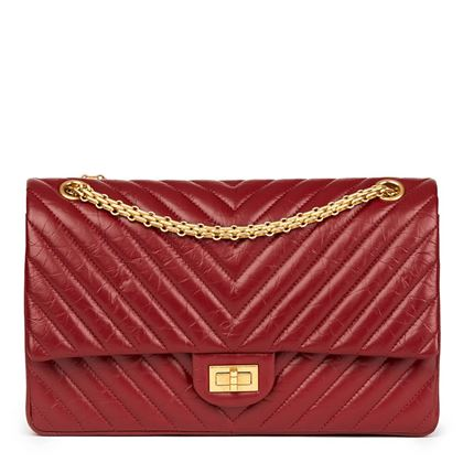 dark-red-chevron-quilted-aged-calfskin-leather-255-reissue-226-double-flap-bag