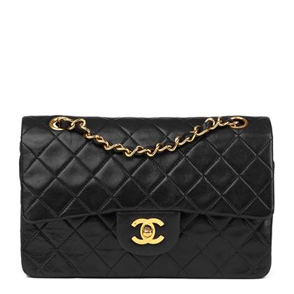 black-quilted-lambskin-vintage-small-classic-double-flap-bag-36