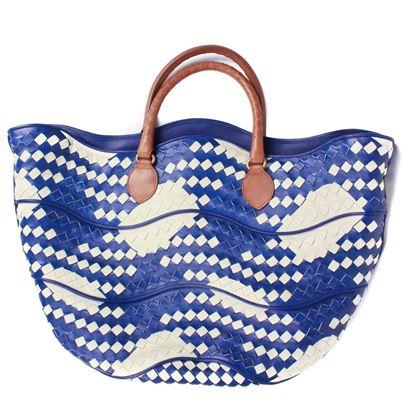 bottega-venetta-tote-bag-cabat-blue-white-woven-intrecciato-leather-cream-brown-pre-owned-used