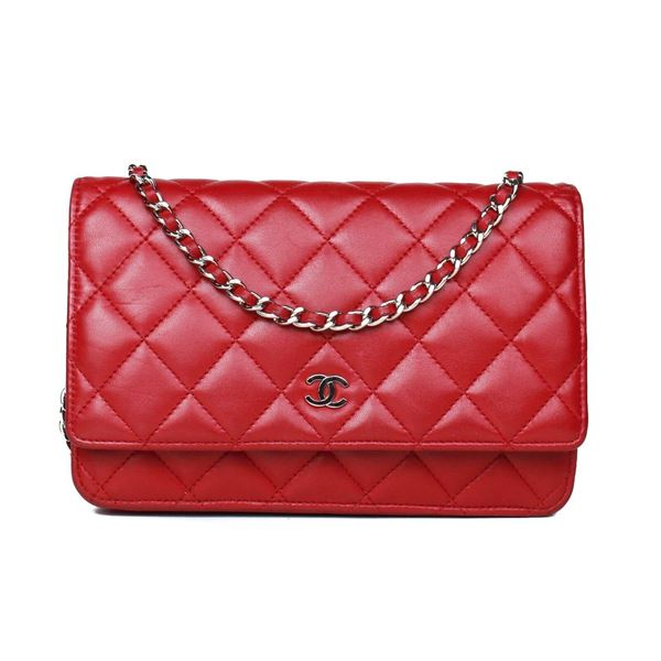 Chanel Wallet On A Chain Bag Red Flap