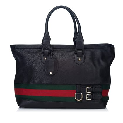 black-gucci-heritage-pebbled-leather-tote-bag