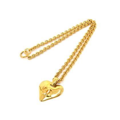 vintage-chanel-gold-plated-heart-shaped-cc-logo-chain-necklace