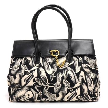 salvatore-ferragamo-black-white-shoe-print-birkin-style-xl-shoulder-bag