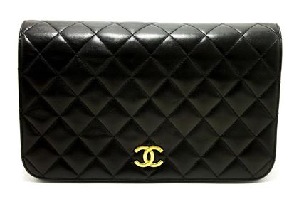 chanel-chain-shoulder-bag-black-clutch-flap-quilted-purse-lambskin-3