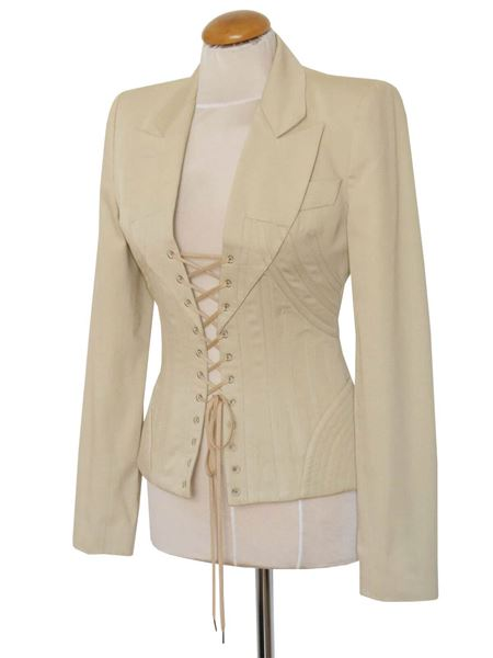 "ALEXANDER MCQUEEN S/S 2002 ""Dance of the Twisted Bull"" Skirt Suit Size S"
