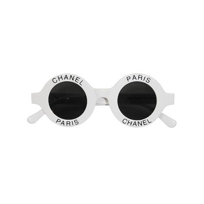 CHANEL S/S 1993 Vintage Round Logo Signature Sunglasses