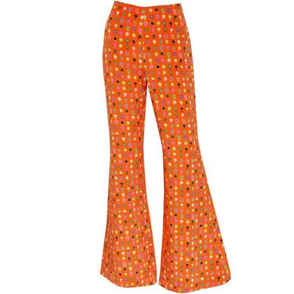 GIANNI VERSACE Couture S/S 1993 Flared Pants As Modeled By Naomi Campbell Size M
