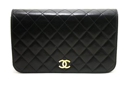 chanel-chain-shoulder-bag-black-clutch-flap-quilted-purse-lambskin-4