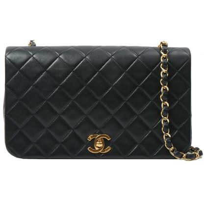 chanel-full-flap-chain-bag-23cm-black-6