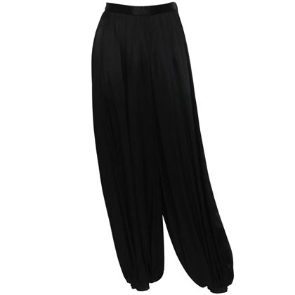 YVES SAINT LAURENT 1970s Harem Evening Pants As Worn By Loulou de la Falaise Size XS