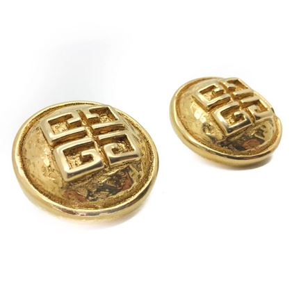 givenchy-vintage-hammered-logo-earrings-1980s