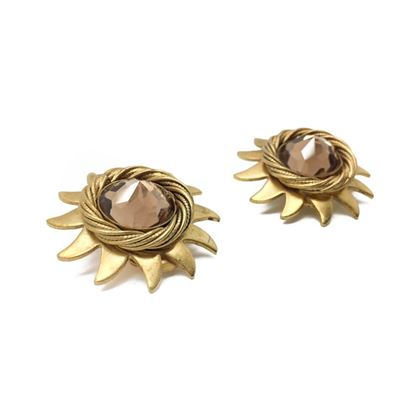 askew-vintage-sunburst-earrings-1980s